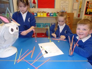 Children in Pink class enjoyed making houses for the Three Little Pigs in Science.