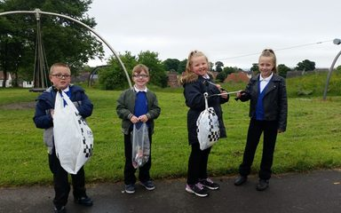 LITTER PICKING IN BLACKHILL PARK