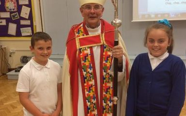 BRILLIANT VISIT FROM THE BISHOP